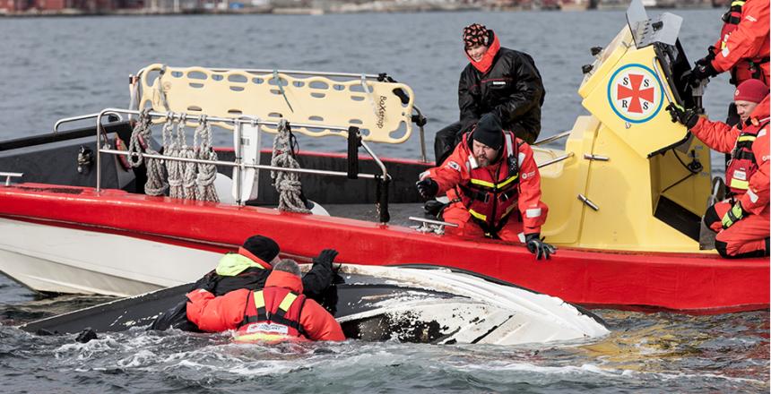 Sjöräddningshundar på plats i Sundsvall