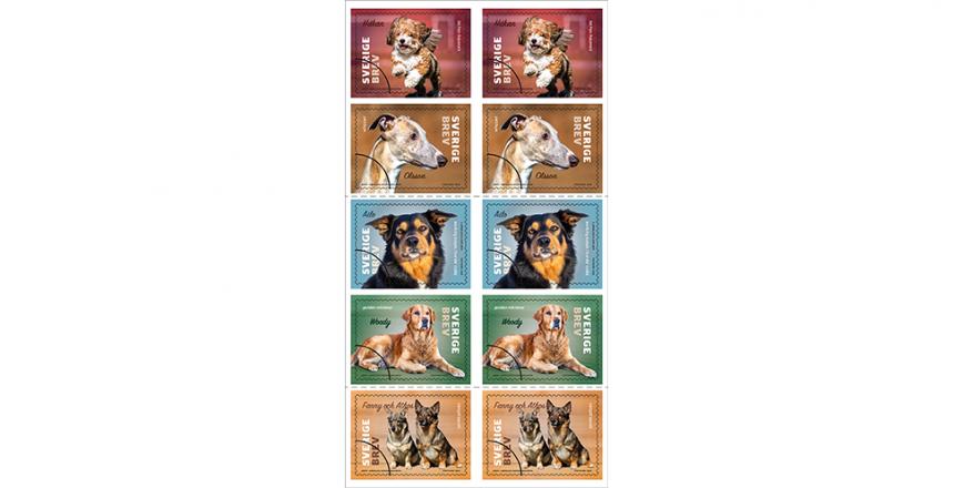 Nu finns hundfrimärkena att köpa